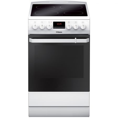 Електрическа готварска печка Hansa FCCW59209, 4 Нагревателни зони, Функция грил, Клас A, Бяла