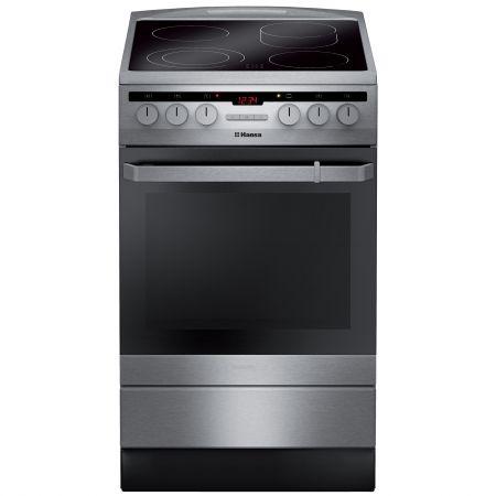Електрическа готварска печка Hansa FCCX58210, 4 Стъклокерамични нагревателни зони, Инокс