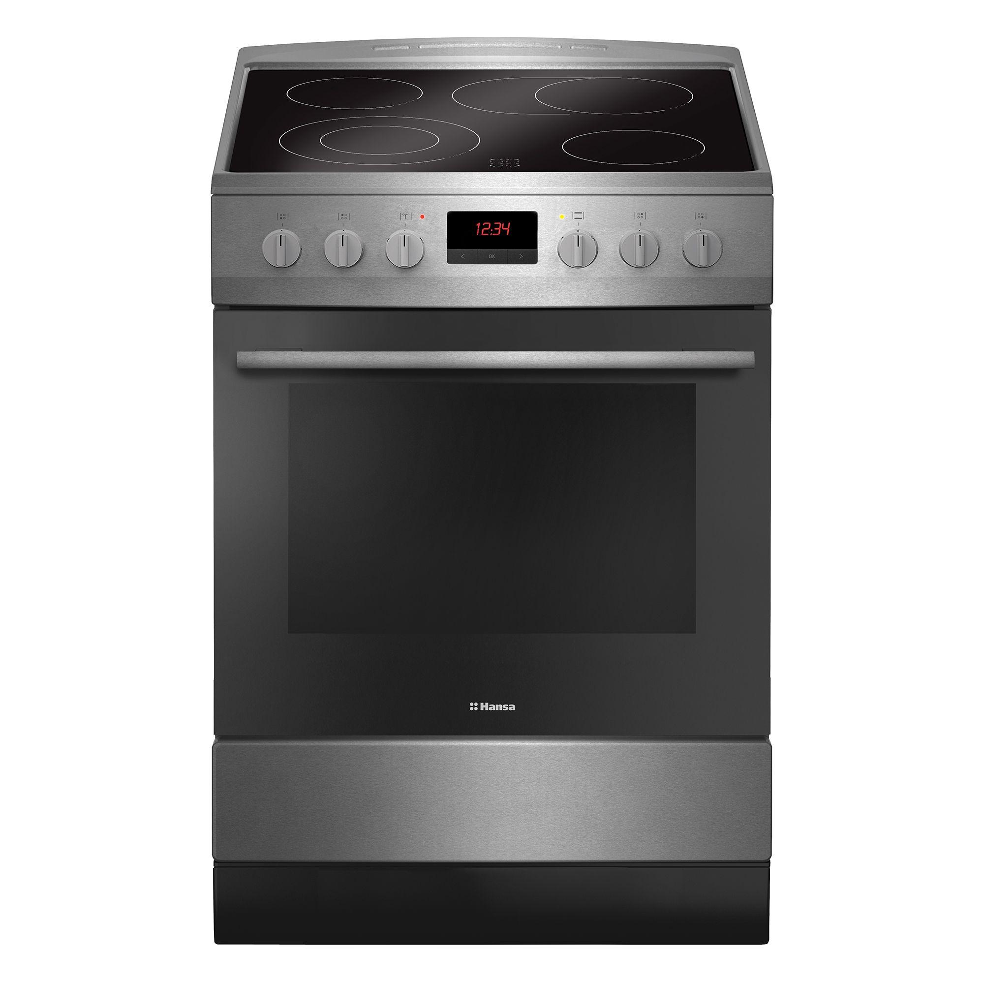 Електрическа готварска печка Hansa FCCX59209, 4 Нагревателни зони, Функция грил, Клас A, Инокс