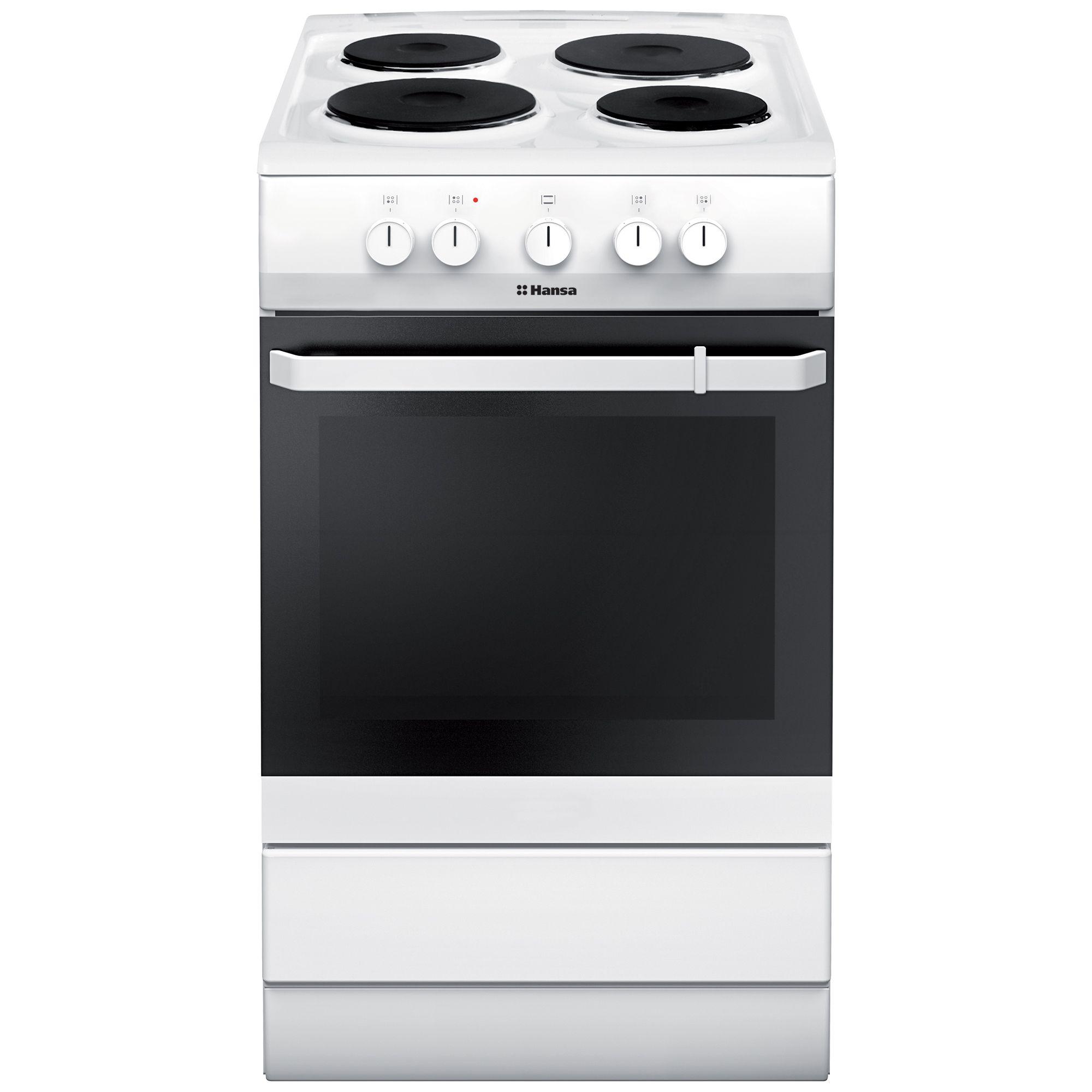 Електрическа готварска печка Hansa FCEW53001, 4 Нагревателни зони, Клас A, 50 см, Бяла