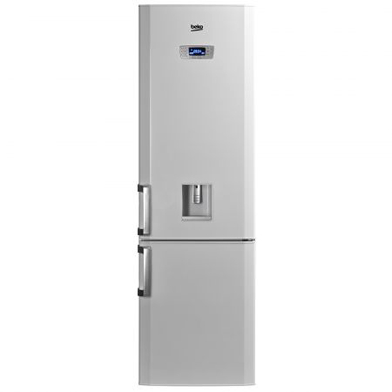 Хладилник с фризер Beko DBK 386 WDR+, 325 л, Клас A+, H 201 см, Диспенсър за вода, Бял