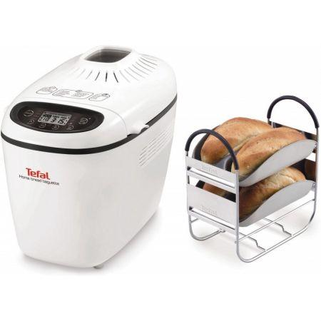 Хлебопекарна Tefal Home Bread Baguette PF610138, 1500 гр, 16 програми, Бяла