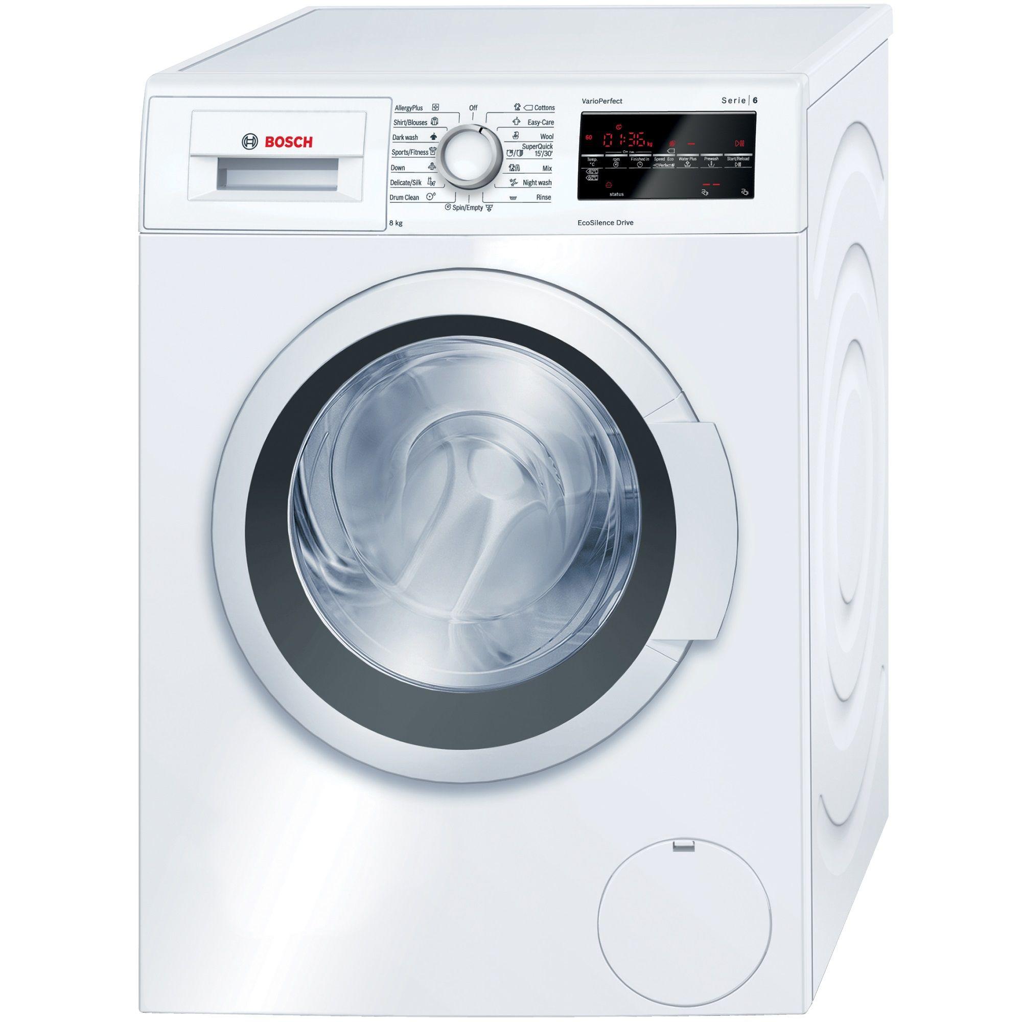Пералня Bosch WAT28460BY, 8 кг, 1400 об/мин, Клас A+++, Дисплей LED, Бяла