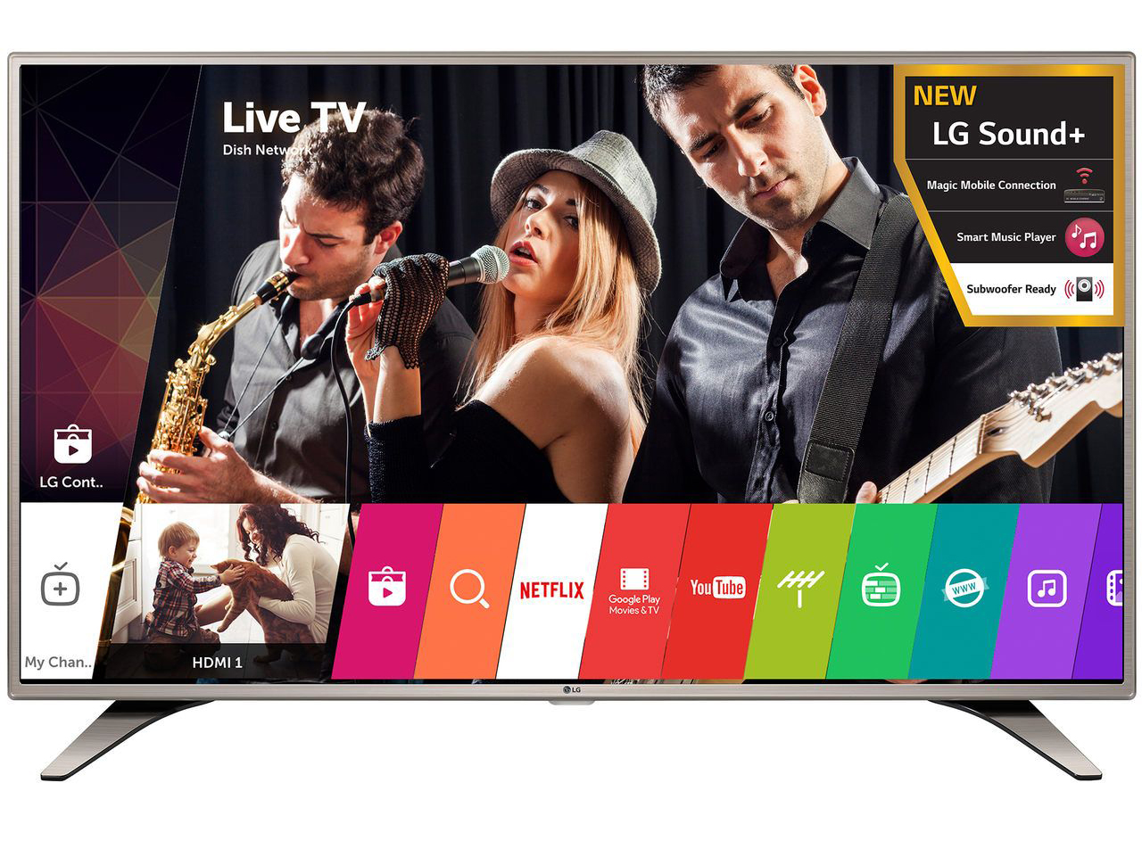 """Телевизор LED Smart LG, 43"""" (108 см), 43LH615V, Full HD"""