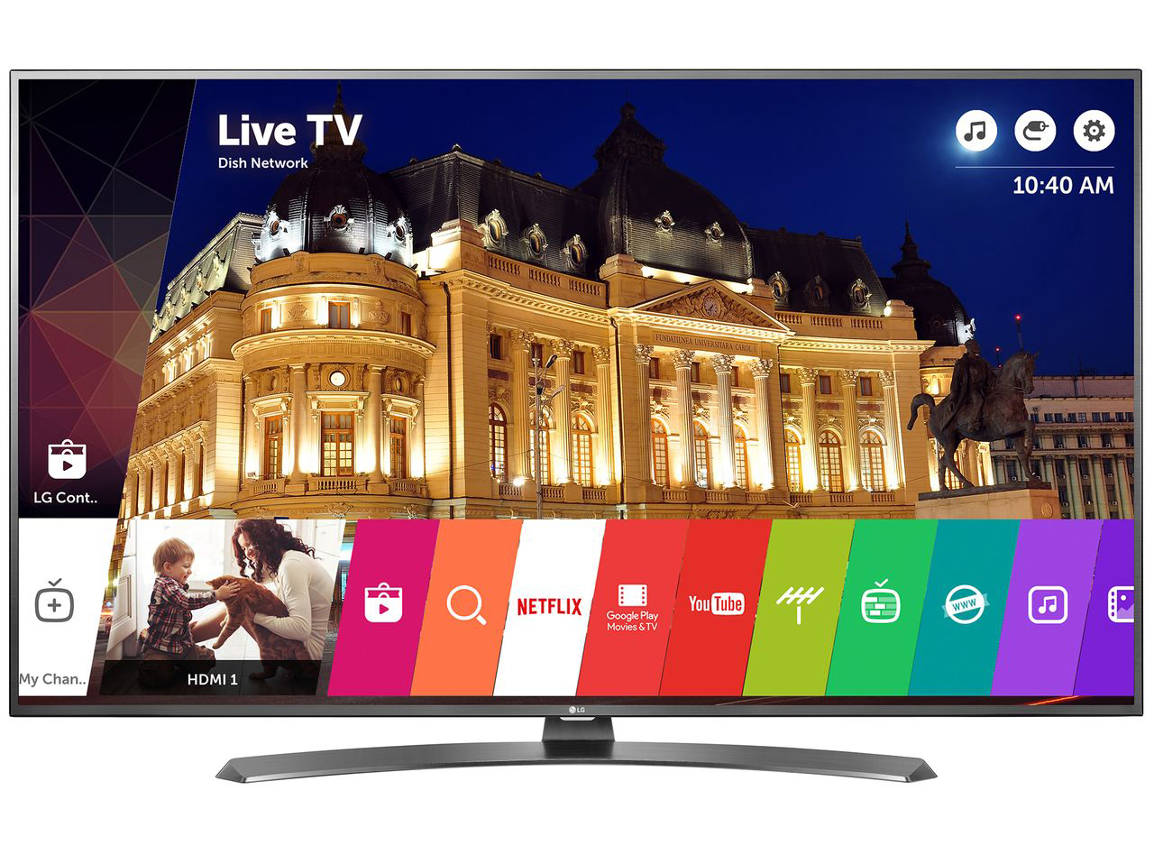 "Телевизор Smart LED LG 43UH661V, 43"" (108 см), 4K Ultra HD"