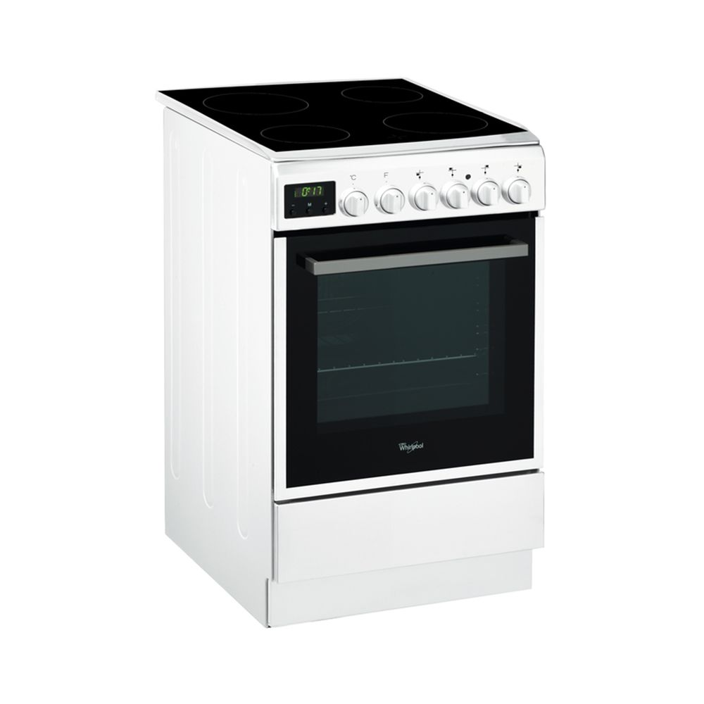 Електрическа готварска печка Whirlpool ACMT 5533/WH, 4 Нагревателни зони, Витрокерамика, 11 функции, 60 л, Грил, Клас A, 50 cм, Бяла