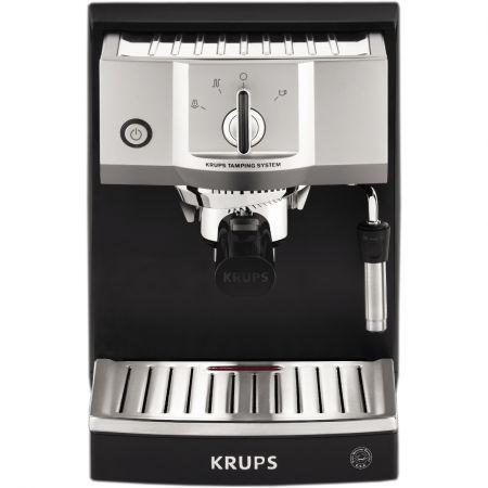 Еспресо машина Krups XP562030, Ръчна, 15 бара, Инокс/Черна