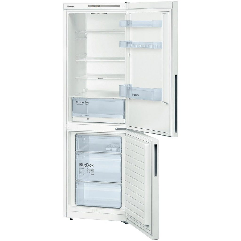 Хладилник с фризер Bosch KGV36UW30, Low Frost, 309 л, Клас A++, H 186 см, Бял