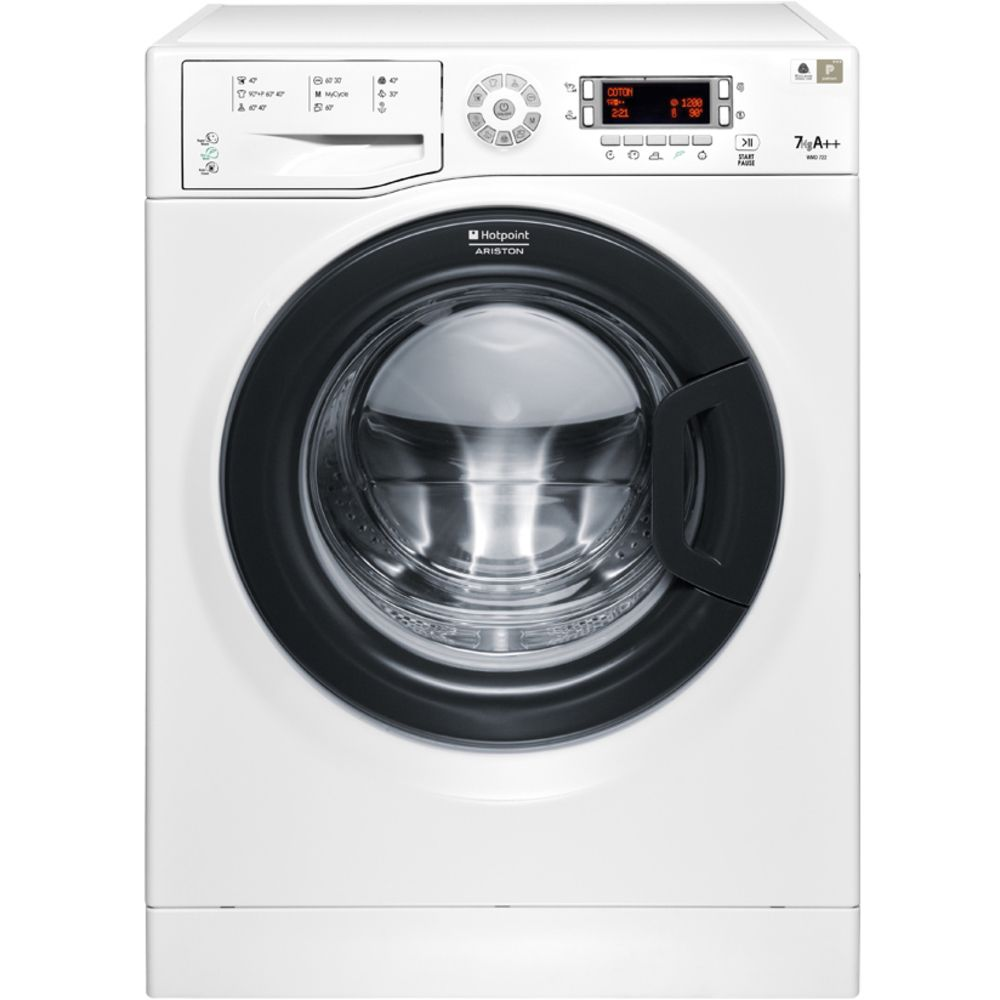 Пералня Hotpoint-Ariston WMD 722B, 1200 об/мин, 7 кг, Клас A++, LCD дисплей, Бяла