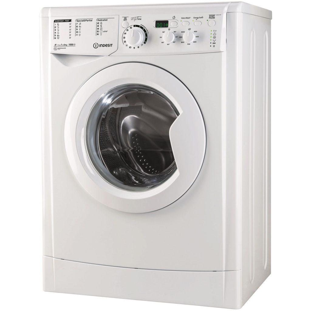 Пералня Indesit EWSD 61051 W EU, 1000 об/мин, 6 кг, Клас A+, Бяла