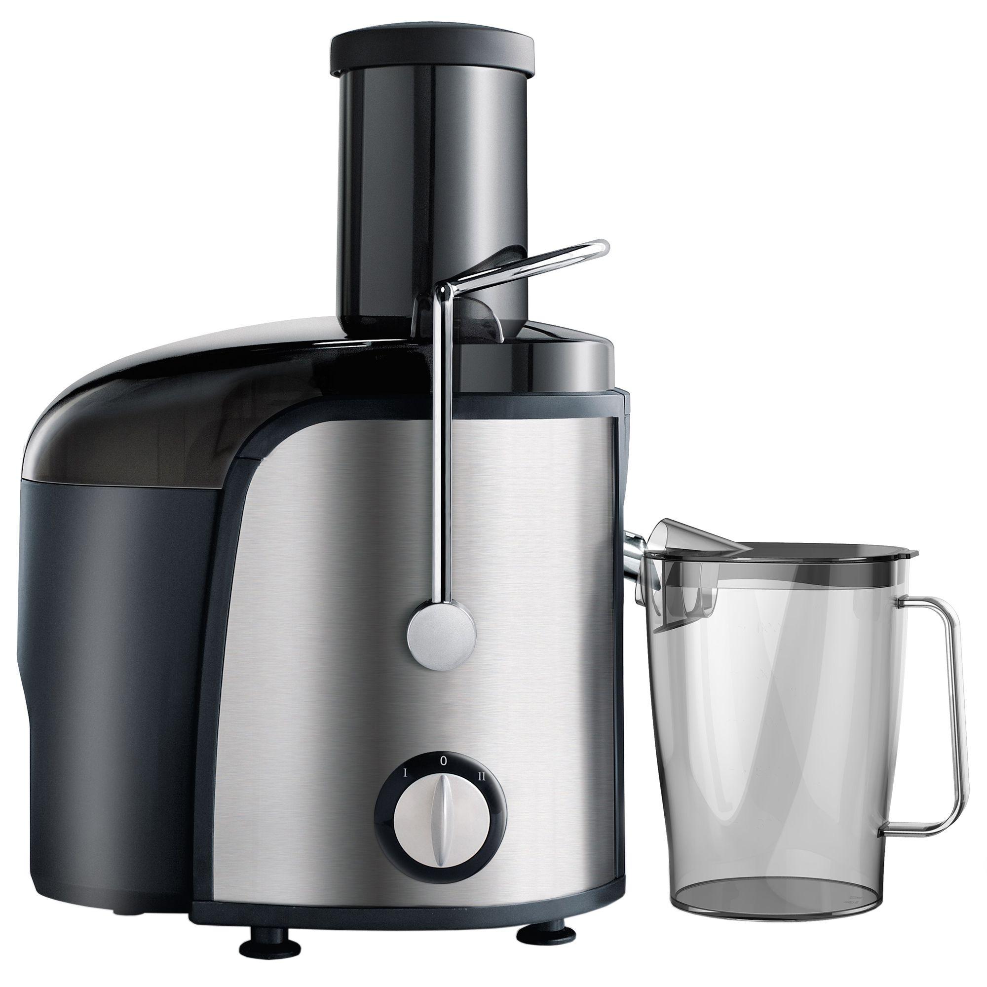 Сокоизстисквачка за плодове и зеленчуци Star-Light PJ-800W, 800 W, Съд за сок 1 л, Захранване XXL, 2 скорости, Механичен контрол, Инокс/Черна