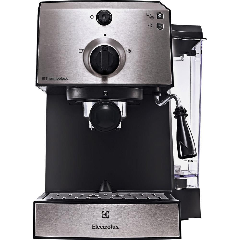 Еспресо машина Electrolux EEA111, 1250 W, 15 бара, 1.25 л, Черна/Сребриста