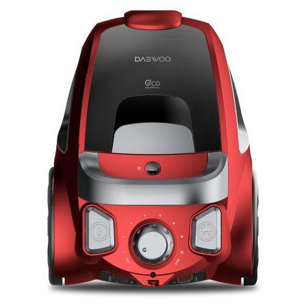Прахосмукачка без торба Daewoo RCC-230R, 1590W W, 2.5л, Телескопична тръба, Филтър HEPA, Червена