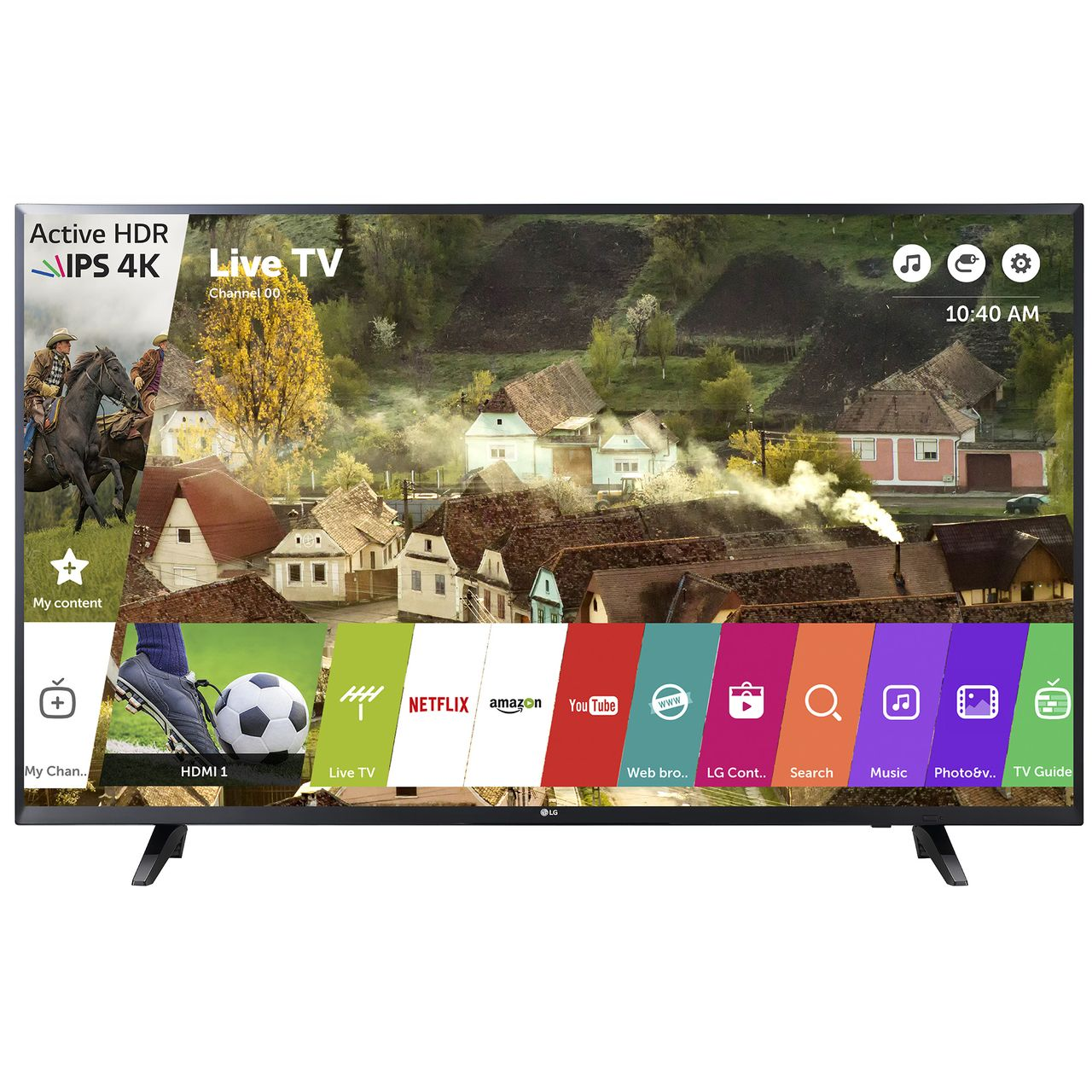 Телевизор LED Smart LG, 55`` (139 cм), 55UJ620V, 4K Ultra HD