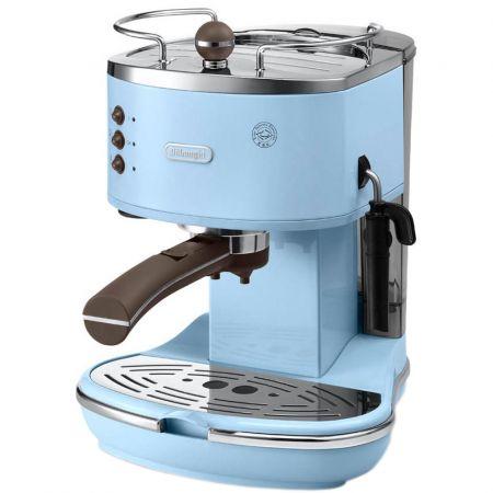 Еспресо машина DeLonghi Vintage ECOV311.AZ, 15 бара, 1.4 л, Синя
