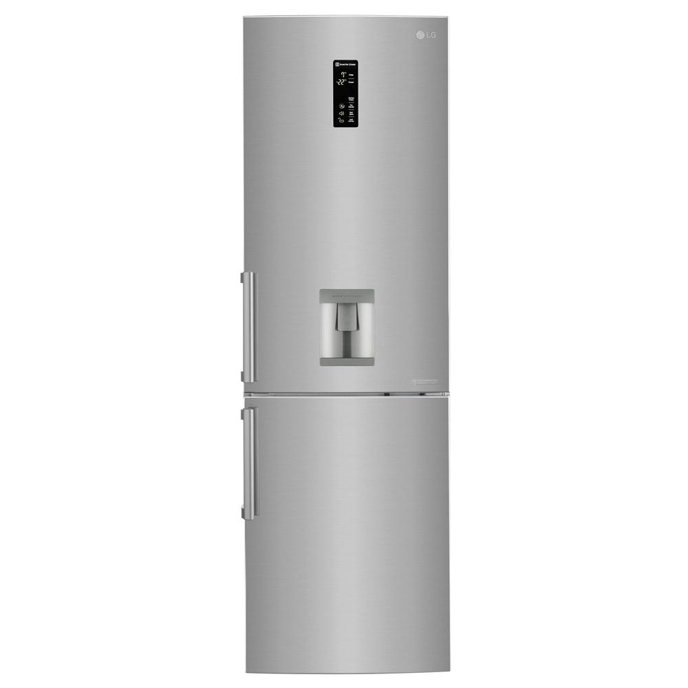 Хладилник с фризер LG GBF59PZDZB, Full No Frost, 314 л, Клас A++, H 190 см, Диспенсър за вода, Сребрист