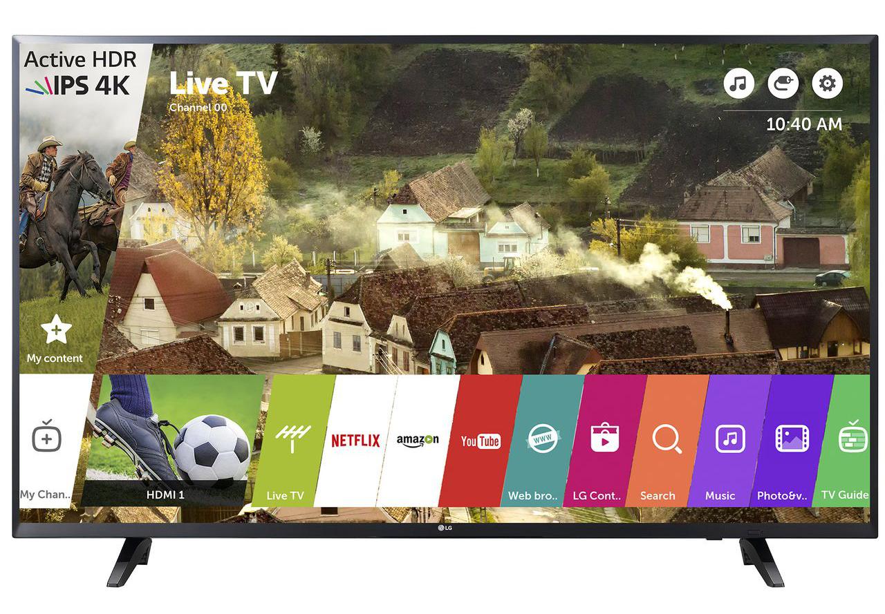 Телевизор LED Smart LG, 43`` (108 cм), 43UJ620V, 4K Ultra HD