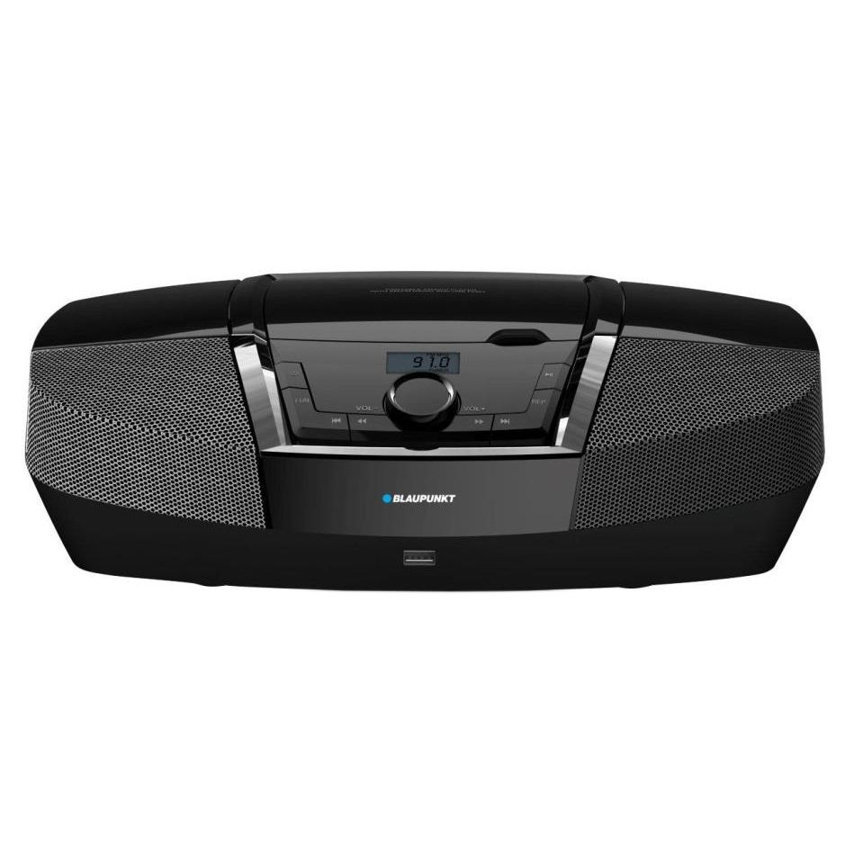 Аудио микросистема Blaupunkt Boombоx BB12BK, CD Player, Тунер FM, USB, 2X2W, Черна