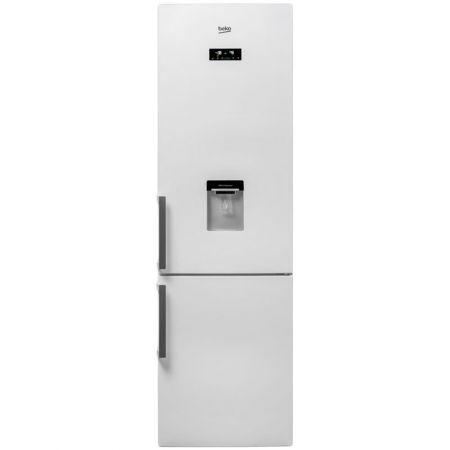 Хладилник Beko RCNA400E21DZW, 344 л, Клас A+, Височина 201 cм, Електронен Display, LED, Дозатор за вода, Бял