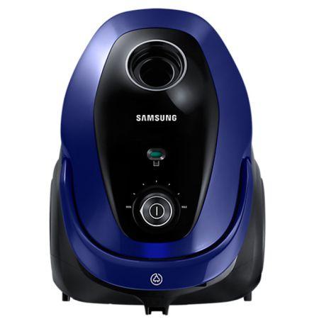 Прахосмукачка с торба Samsung VC07M25E0WB, 2.5 л, 750 W, Телескопична тръба, Аксесоари 2 в 1,Синя