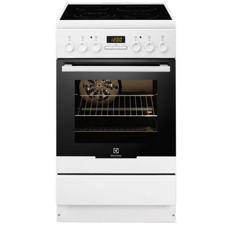 Електрическа готварска печка Electrolux EKC54550OW, 4 Нагревателни зони Витрокерамика, Функция грил, Клас A-10%, 50 см, Бяла