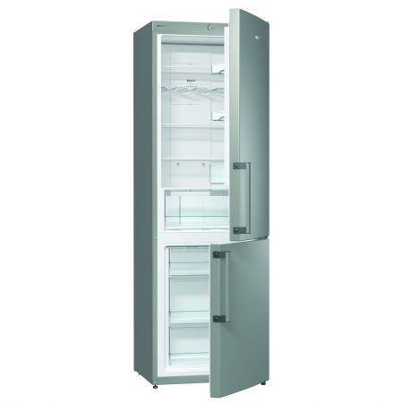 Хладилник- фризер Gorenje NRK6191CX , Енергиен клас А+, Обем 325 л., Сив металик