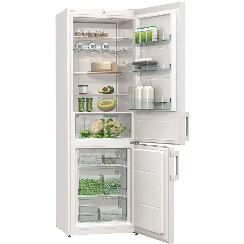 Хладилник Gorenje NRK6191CW, 307 л, Клас A+, No Frost, 185 cм, Бял