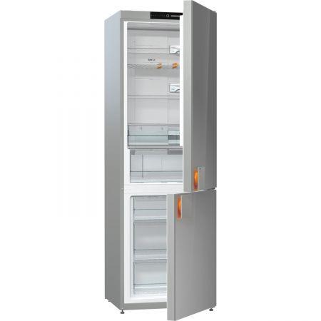 Хладилник с фризер Gorenje NRK612ST, 307 л, Клас A++, No Frost, Височина 185 cм, Сиво стъкло