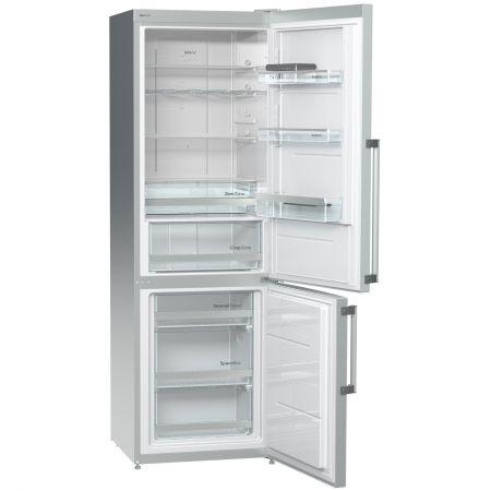Хладилник с фризер Gorenje NRK6191TX, No Frost, 307 л, Клас A+, 185 cм, Сребрист