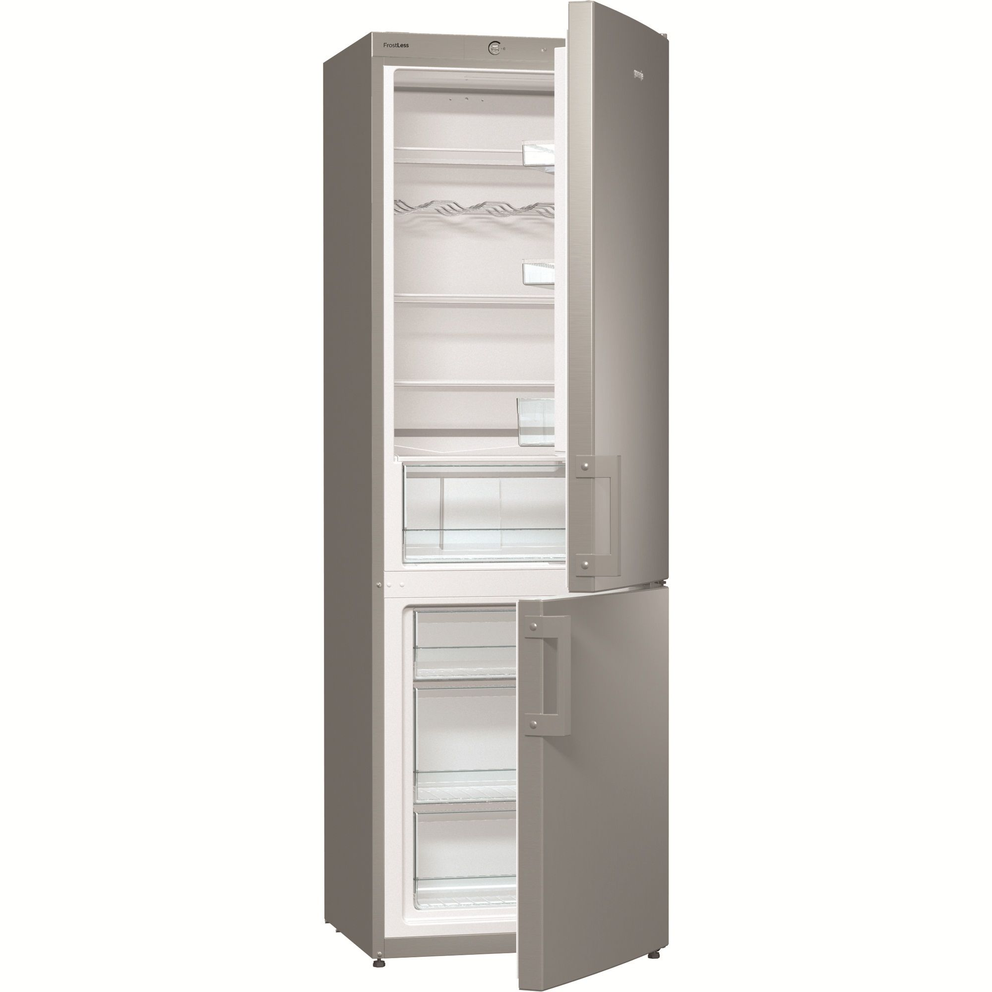 Хладилник с фризер Gorenje RK6191AX, 321 л, Клас A+, 185 см, Сребрист