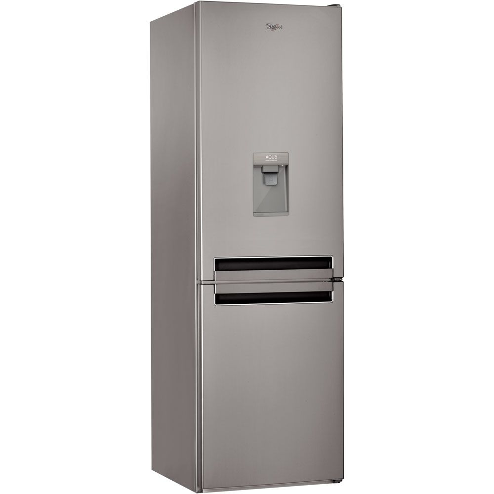 Хладилник с фризер Whirlpool BSNF 8121 OX AQUA, 315 л, Клас A+, 6th Sense, NoFrost, Височина 188.8 cм, Inox