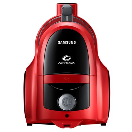 Прахосмукачка без торба Samsung VCC45T0S3R, 1.3 l, 850 W, Air Track, Телескопична тръба, Червена