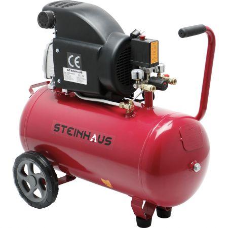 Въздушен компресор Steinhaus PRO-COM50, 50 л, 1500W, 2CP, 8 бара, 206 л/мин