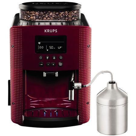 Еспресо машина Krups Espresseria EA8165, 15 бара, Червена/Черна