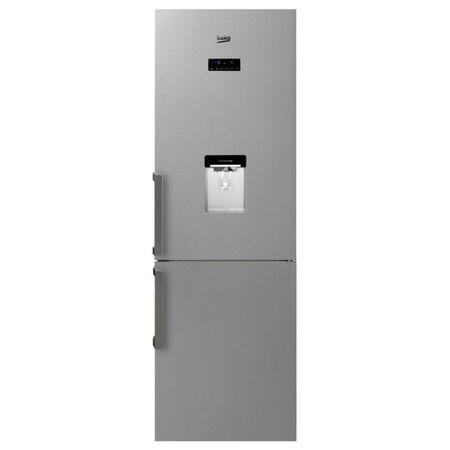 Хладилник с фризер Beko RCNA365E20DZXP, 306 л, Клас A+, H 185 cм, Електронен дисплей, LED осветление, Диспенсър за вода, Inox