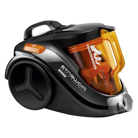 Прахосмукачка без торба Rowenta Compact Power 3A RO3753, 1.5 л, 750 W, Филтър с висока ефективност, 8.8 м, Черна/Оранжева