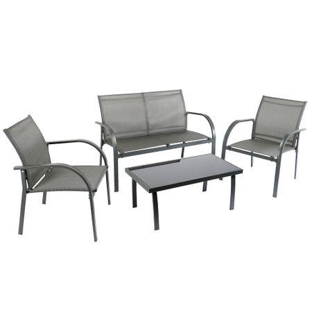 Комплект градински мебели Kring Odessa, Диван 2 места, Маса 2 стола