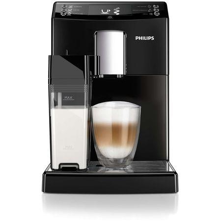 Еспресо машина Philips EP3550/00, Super-automat, Система за филтриране AquaClean, Вградена кана за мляко, 5 настройки, Опция за смилане на кафе, 5 напитки, Черна