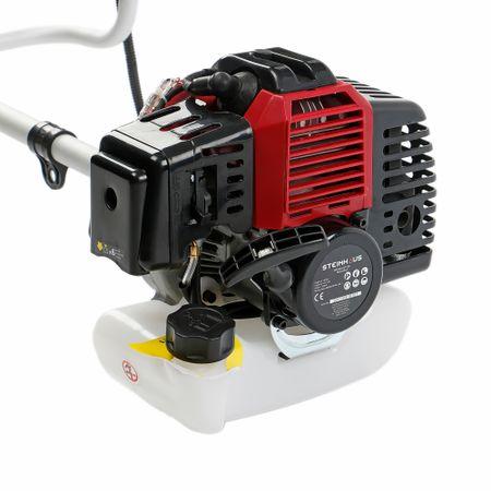 Моторна бензинова коса Steinhaus PRO-BC43, 2-тактов мотор, Безнзин, 1.7 кс, 42.7 cc, Острие 3 зъба, Шпула за тример и колан