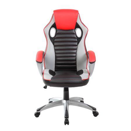 Стол Gaming Kring Odin, Въртящ, Черен/Червен