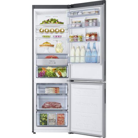 Хладилник с фризер Samsung RB34K6032SS/EF, 344 л, Clasa A++, Full No Frost, Power Cool, Power Freeze, Compresor Digital Invertor, Display, H 191 см