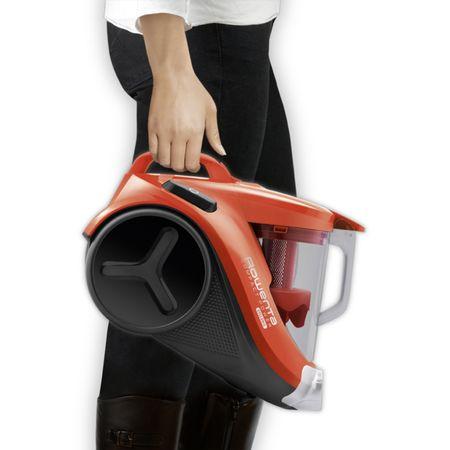 Прахосмукачка без торба Rowenta Compact Power 3A RO3724, 1.5 л, 750 W, Филтър с висока ефективност, 8.8 м, Оранжева