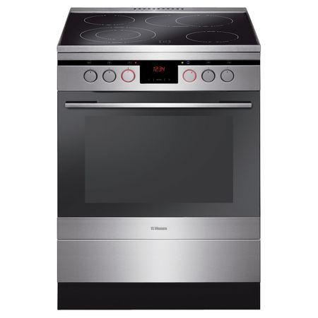 Електрическа готварска печка Hansa FCCX68235, 4 Нагревателни зони, Функция грил, Клас A, Инокс