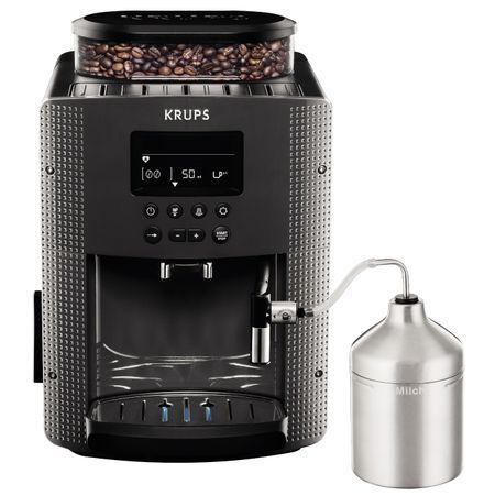 Еспресо машина Krups Espresseria Automatic EA816B, Автоматична, Устройство за пяна, LCD екран, 15 Бара, 1.7л, Сива