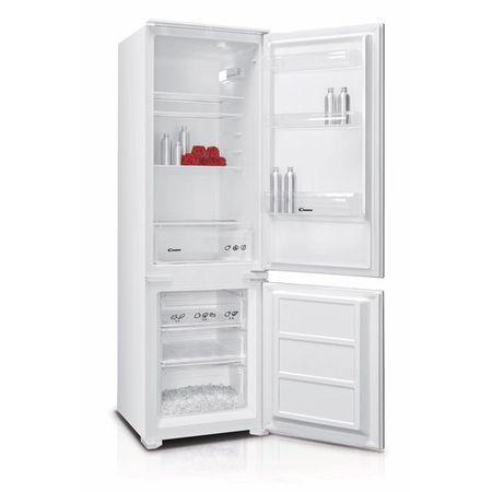 Хладилник с фризер за вграждане Candy BCBS172HP, 250 л, Клас A+, H 177, Бял