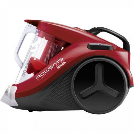 Прахосмукачка без торба Rowenta Compact Power RO3798 750W Контейнер 1.5 л, Четка 2 in 1, Метална телескопична тръба, Накрайник за паркет, Накрайник за тесни места XL, Накрайник за тапицерия, Четка Mini Turbo, Червена