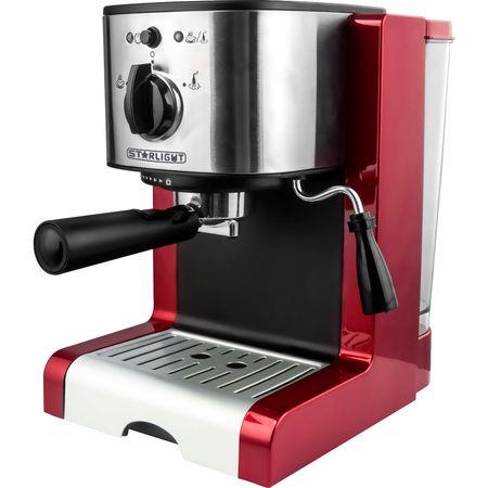 Ръчна еспресо машина Star-Light EMD-1515R, 15 бара, Устройство за пяна, 1.5 л, Червена/Инокс