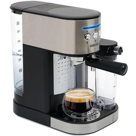 Еспресо машина Star-Light ESD-170SS, Ръчна, 15 бара, 1.7 л, Устройство за пяна, Премахващ съд за мляко 0,5 л, Inox