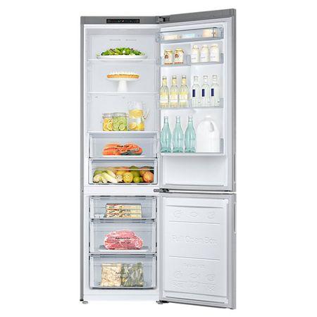 Хладилник с фризер Samsung RB37J5000SA/EF, 367 л, Клас A+, No Frost, H 201, Метален графит