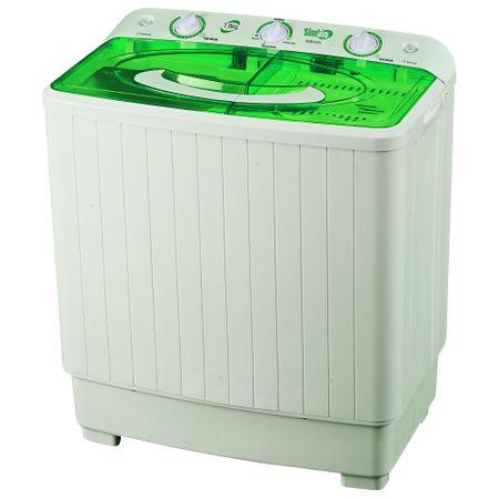 Полуавтоматична пералня Simbio SBWM78, 7.8 кг, Бяла/Зелена